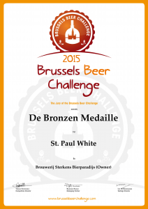 Diploma Brussels Beer Challenge St. Paul White